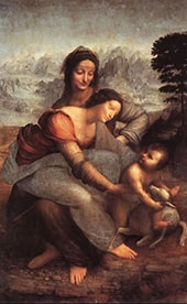 The Virgin and Child with St Anne By Leonardo da Vinci