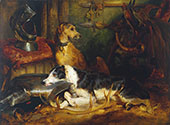 A Scene at Abbotsford 1827 By Edwin Henry Landseer