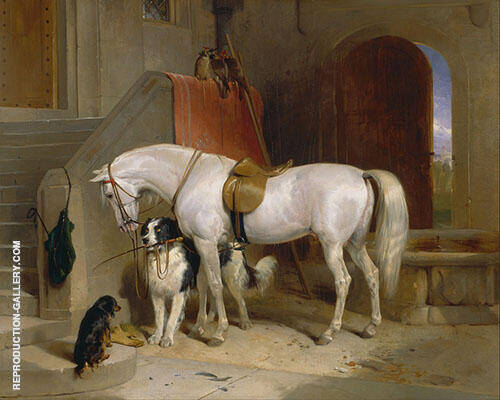 Favourites The Property of H.R.H.Prince George of Cambridge 1834 Painting By ...