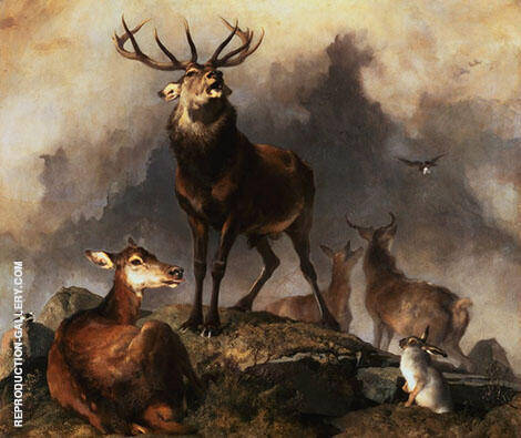 Highland Deer By Edwin Henry Landseer
