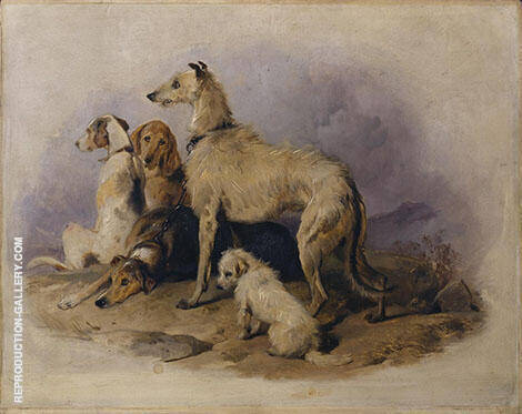 Highland Dogs Painting By Edwin Henry Landseer - Reproduction Gallery