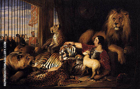 Isaac Van Amburgh and His Animals 1839 By Edwin Henry Landseer