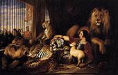 Isaac Van Amburgh and His Animals 1839 By Edwin Henry Landseer