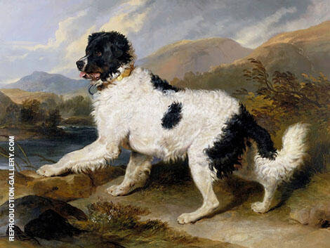 Lion a Newfoundland Dog 1824 By Edwin Henry Landseer