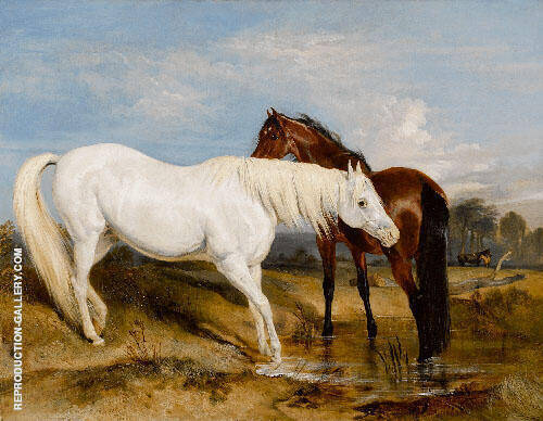 Portrait of an Arab Mare with Her Foal 1825 Painting By ...