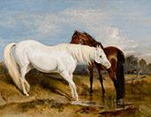 Portrait of an Arab Mare with Her Foal 1825 By Edwin Henry Landseer