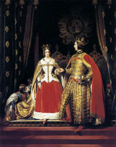 Queen Victoria and Prince Albert at The Ball Costume 1842 By Edwin Henry Landseer