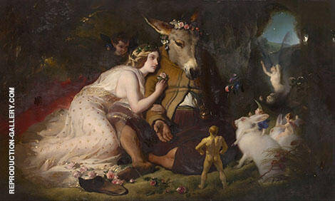 Scene from a Midsummer Nights Dream Titania and Bottom 1851 By Edwin Henry Landseer