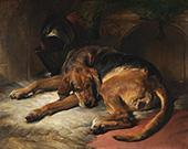 Sleeping Bloodhound 1835 By Edwin Henry Landseer