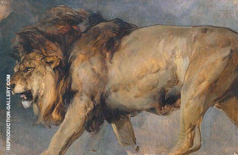 Study of Lion 1862 By Edwin Henry Landseer