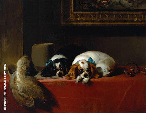 The Cavaliers Pets 1845 By Edwin Henry Landseer
