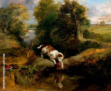 The Dog and The Shadow By Edwin Henry Landseer