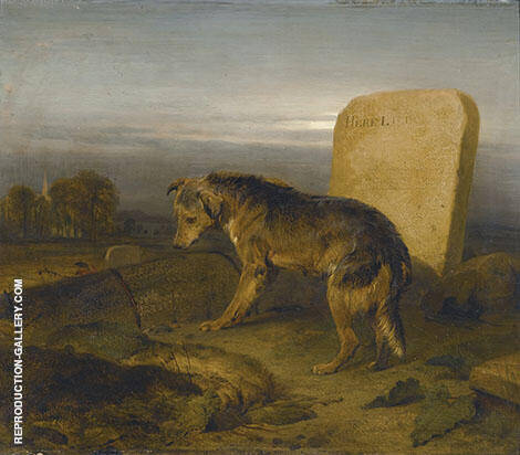 The Shepherds Grave By Edwin Henry Landseer