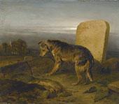 The Shepherds Grave By Edwin Henry Landseer