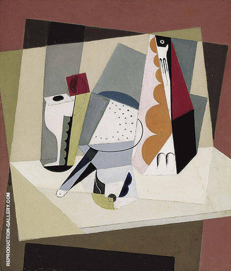 Cubist Still Life 1917 Painting By Maria Blanchard - Reproduction Gallery
