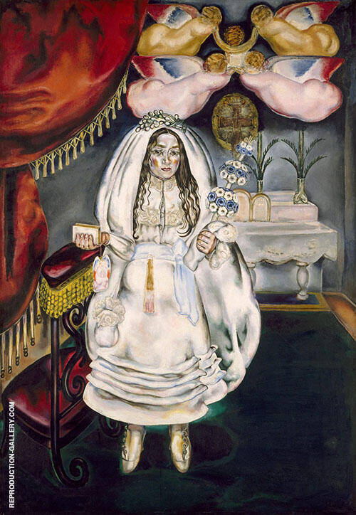 Girl at Her First Communion 1914 Painting By Maria Blanchard