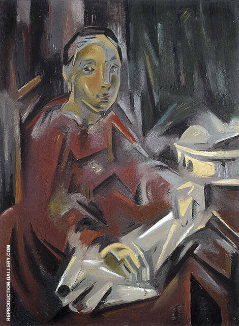Seated Woman 1928 Painting By Maria Blanchard - Reproduction Gallery