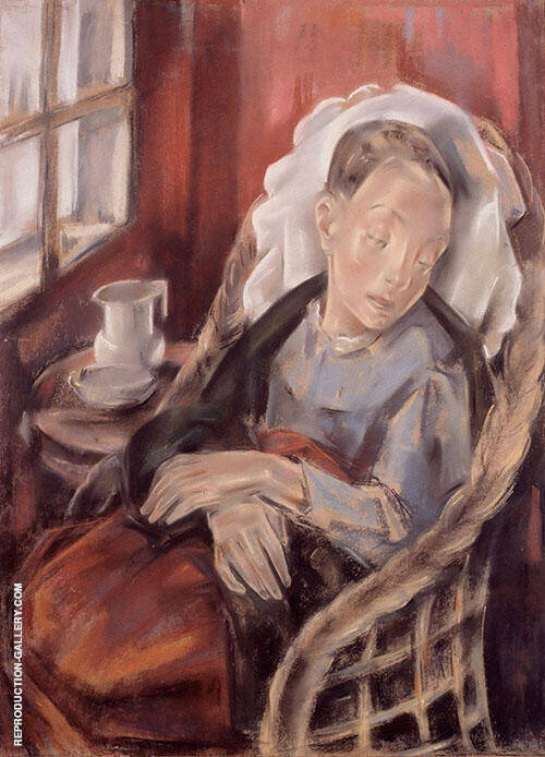 The Convalescent 1925 Painting By Maria Blanchard - Reproduction Gallery