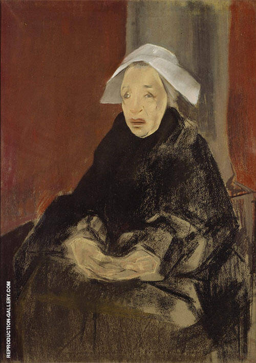Woman from Brittany 1928 By Maria Blanchard