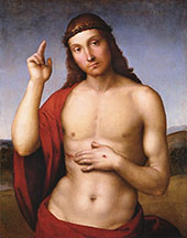 Christ Blessing 1505 By Raphael