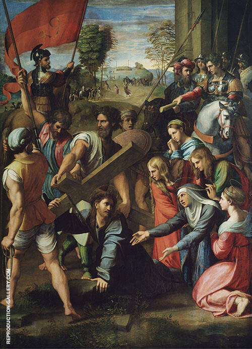 Christ Falling on The Way to Calvary 1515 By Raphael