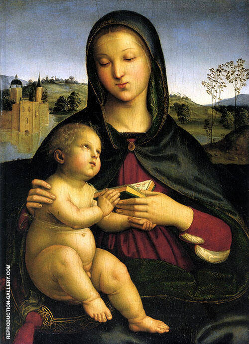 Madonna and Child with Book 1502 By Raphael