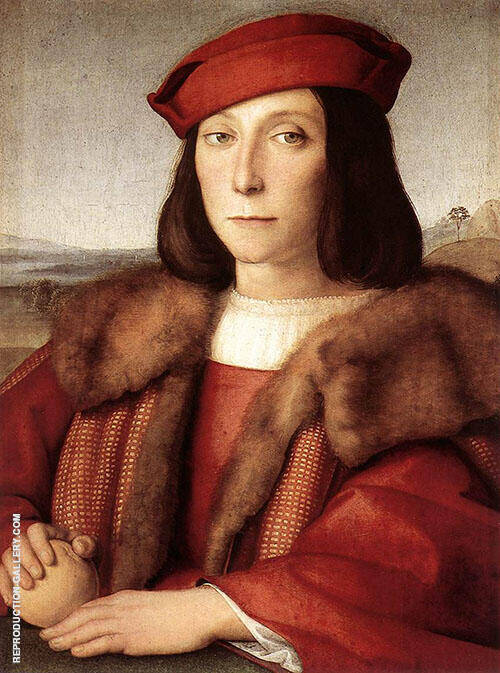 Portrait of a Man Thought to be Francesco Maria Della Rovere 1503 By Raphael