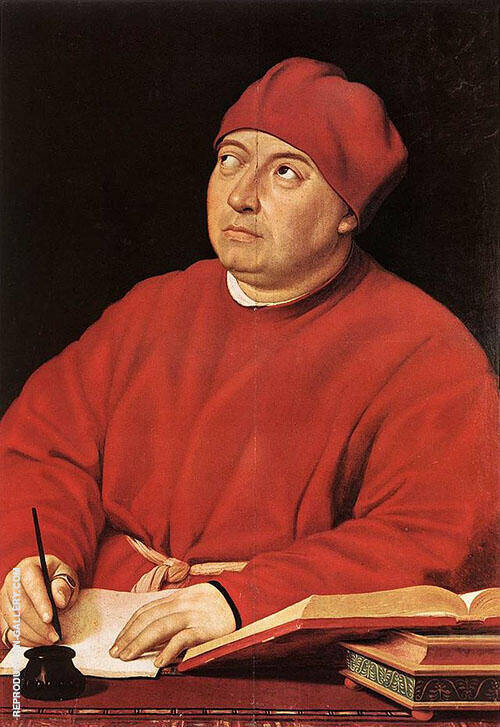 Portrait of Tammaso Inghirami 1516 By Raphael