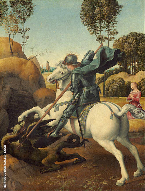 St George and The Dragon 1506 By Raphael