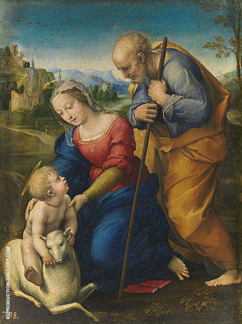 The Holy Family with a Lamb 1507 By Raphael
