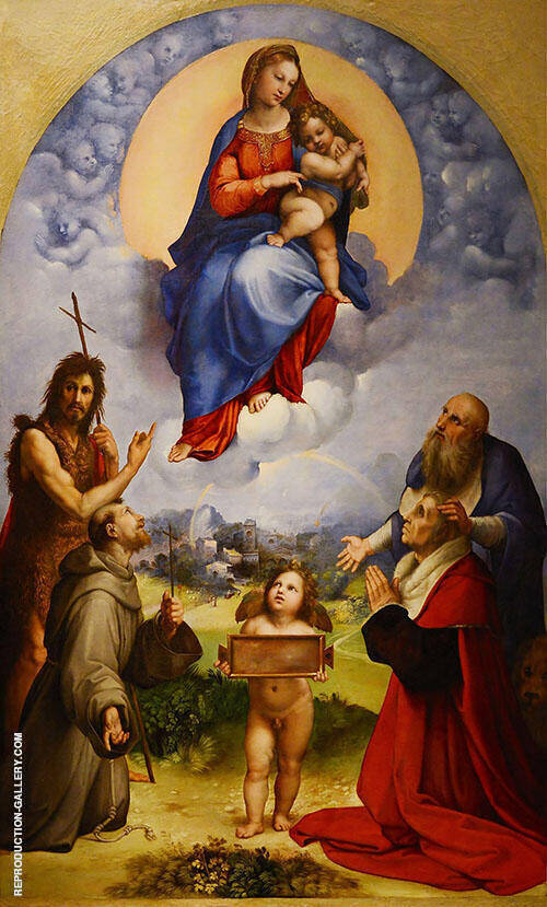 The Madonna of Foligno 1511 Painting By Raphael - Reproduction Gallery