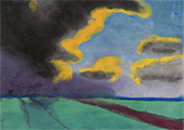 Wide Landscape with Clouds By Emil Nolde