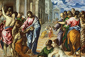 The Miracle of Christ Healing the Blind 1570 By El Greco