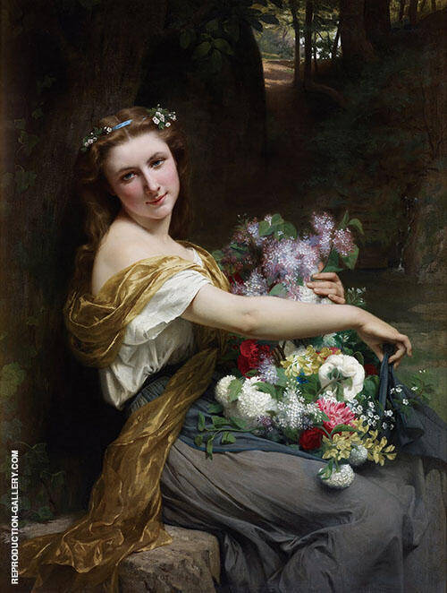 Dionysia 1870 Painting By Pierre Auguste COT - Reproduction Gallery