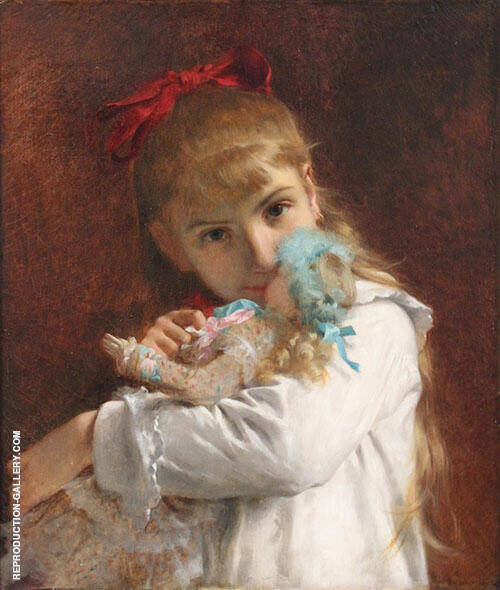 Little Girl 1871 Painting By Pierre Auguste COT - Reproduction Gallery