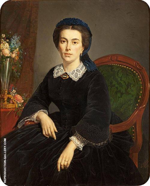 Portrait de Madame Gervais 1863 By Pierre Auguste COT