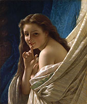 Portrait of Young Woman 1869 By Pierre Auguste COT