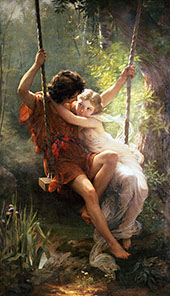 Springtime 1873 By Pierre Auguste COT