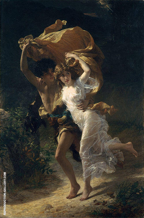 The Storm 1880 By Pierre Auguste COT