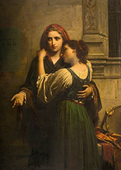 Young Street Musicians 1870 By Pierre Auguste COT