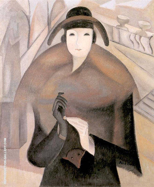 A Chilly Morning in Luxembourg 1921 By Alice Bailly