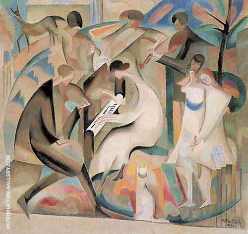 A Concert in The Garden 1920 By Alice Bailly