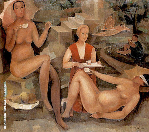Afternoon Tea 1927 Painting By Alice Bailly - Reproduction Gallery