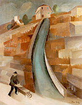 A Steep Slope in The Vineyards 1928 By Alice Bailly