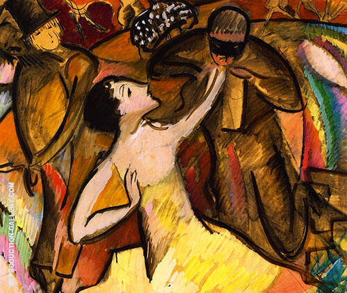 At The Ball c1927 Painting By Alice Bailly - Reproduction Gallery