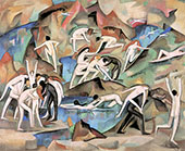 Bacchanale Among The Rocks 1912 By Alice Bailly