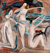 Bathers with Birds 1920 By Alice Bailly