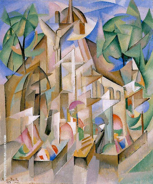 Cemetery 1913 Painting By Alice Bailly - Reproduction Gallery