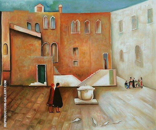 Courtyard Interlor By Alice Bailly