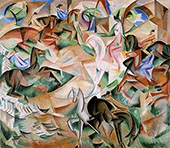Equestrian Fantasy with Pink Lady 1913 By Alice Bailly